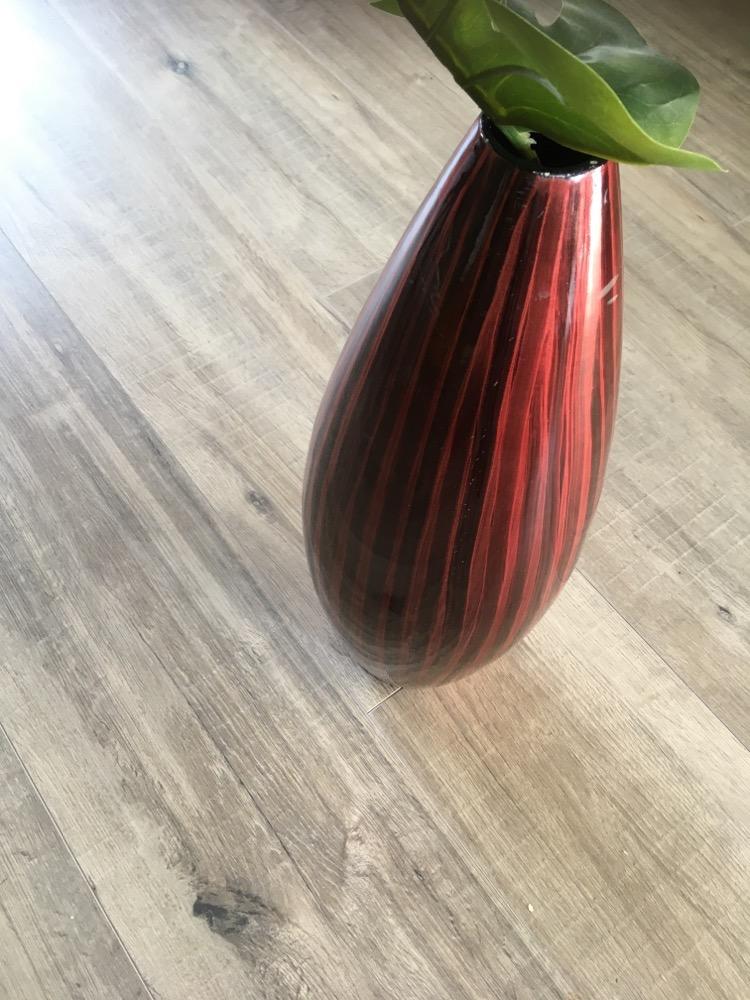 Hoge vaas rood 52 cm hoog