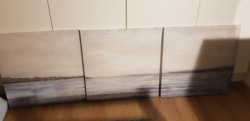 Canvastaulut 3kpl maisemakuva 56x56