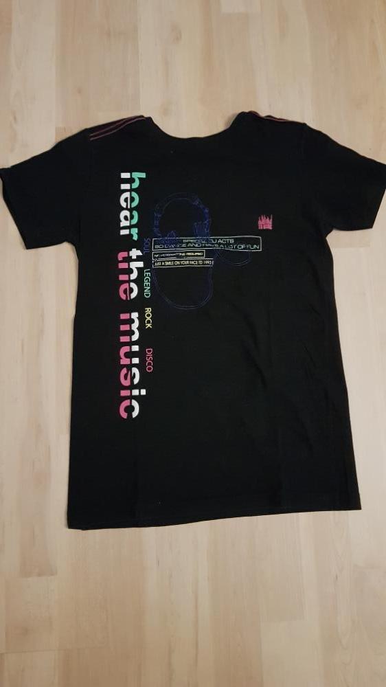 T-shirt Tom Du zwart 140/146