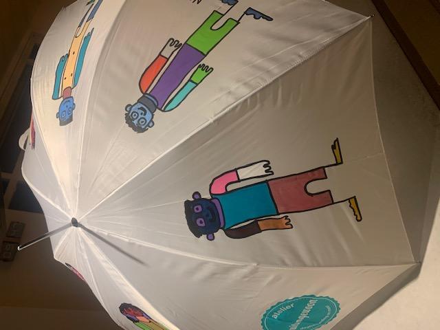 Handbeschilderde paraplu