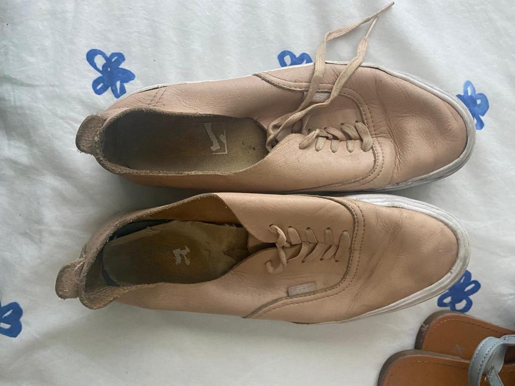 Vaal. pun. Vans-kengät, nahkaa, koko 39