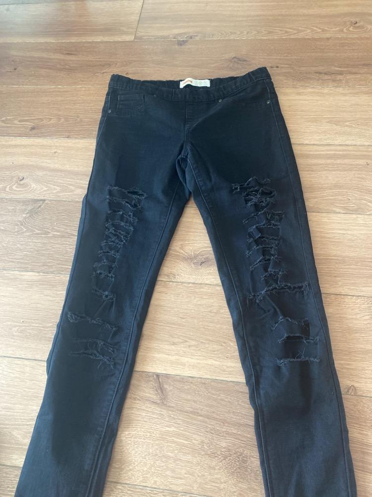 Jeans met gaten zwart