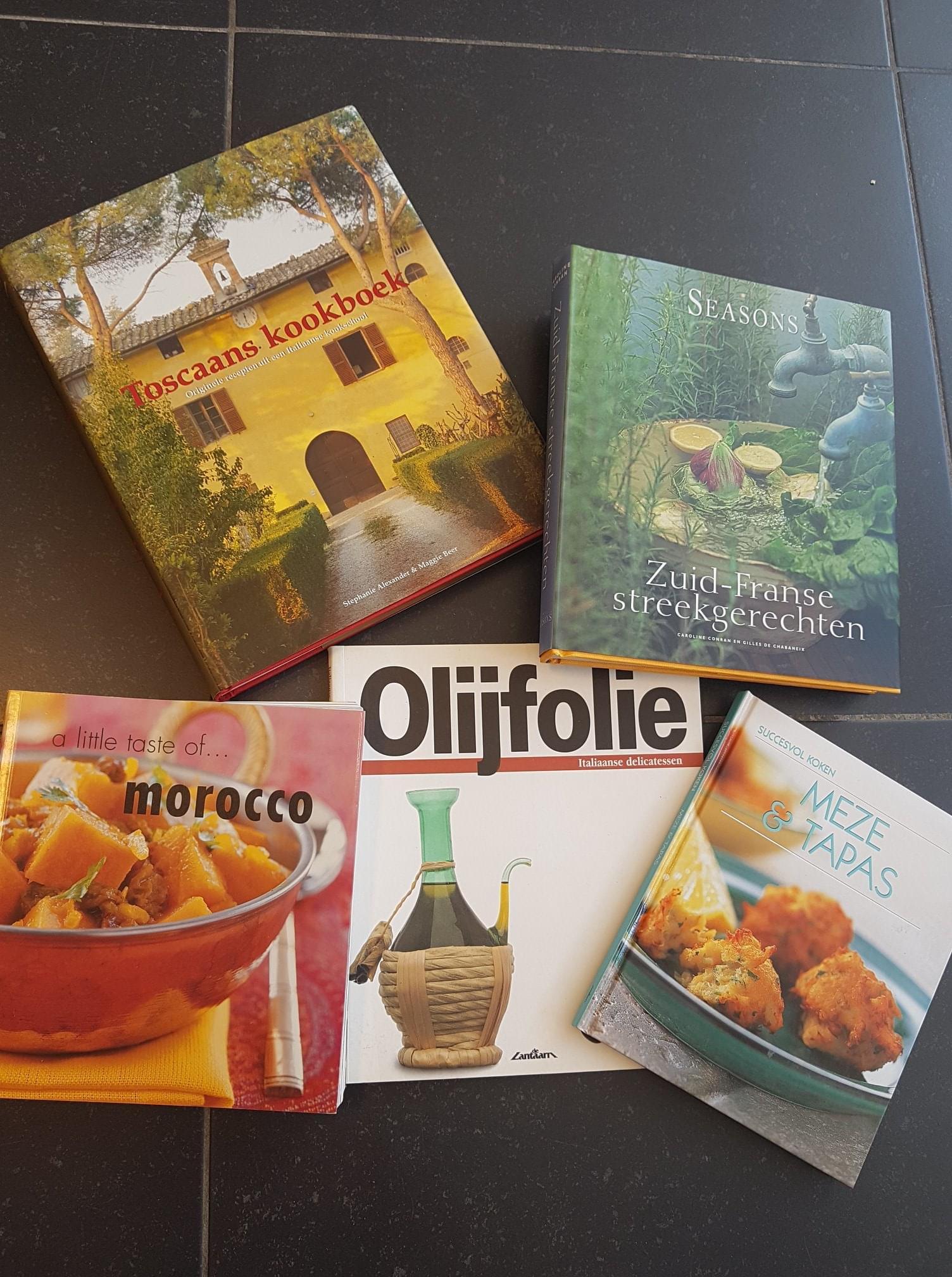 Kookboeken en wijnboeken