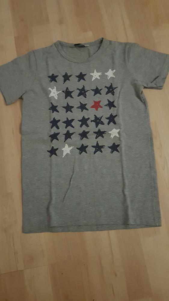 T-shirt Tom Du grijs stars 140/146