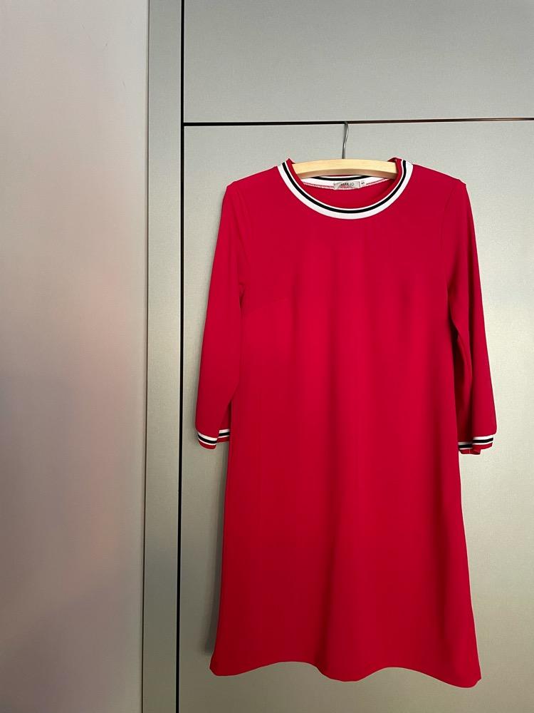 Sportieve rode jurk, mt S/M