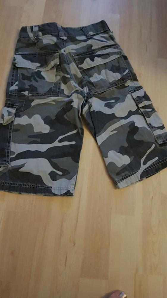 Cargoshort camouflage grijs 140 Soho
