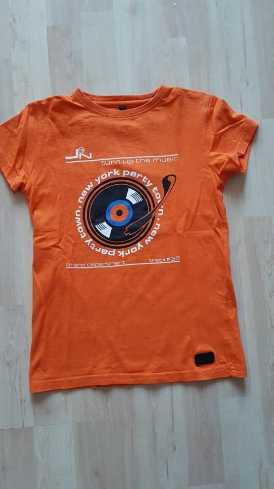 T-shirt oranje music 128